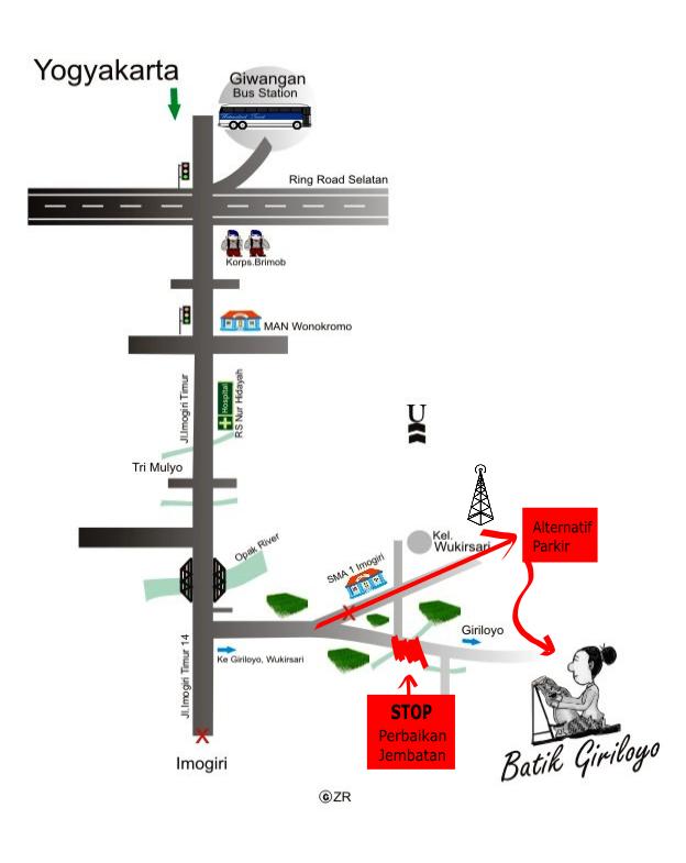 Jalan alternatif ke Giriloyo